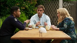 Levi Canning, Kyle Canning, Sheila Canning in Neighbours Episode 8399