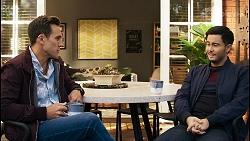 Aaron Brennan, David Tanaka in Neighbours Episode 8400