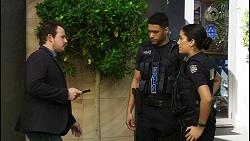 Dax Braddock, Levi Canning, Yashvi Rebecchi in Neighbours Episode 8400