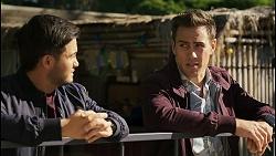 David Tanaka, Aaron Brennan in Neighbours Episode 8400