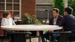 Emmett Donaldson, Aaron Brennan, David Tanaka in Neighbours Episode 8401