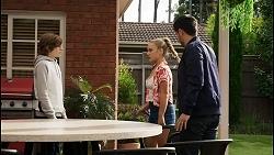 Emmett Donaldson, Roxy Willis, David Tanaka in Neighbours Episode 8401
