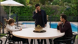 Emmett Donaldson, David Tanaka, Aaron Brennan in Neighbours Episode 8401