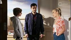 Emmett Donaldson, David Tanaka, Roxy Willis in Neighbours Episode 8401