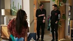 Dipi Rebecchi, Shane Rebecchi, Ned Willis in Neighbours Episode 8403