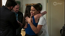 Shaun Watkins, Karl Kennedy, Bea Nilsson, Elly Conway in Neighbours Episode 8404