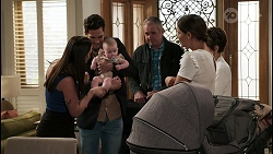 Bea Nilsson, Shaun Watkins, Aster Conway, Karl Kennedy, Elly Conway, Susan Kennedy in Neighbours Episode 8404