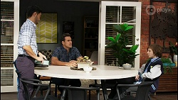 David Tanaka, Aaron Brennan, Emmett Donaldson in Neighbours Episode 8405