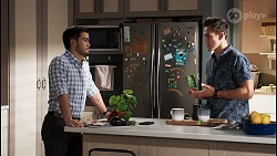 David Tanaka, Aaron Brennan in Neighbours Episode 8406