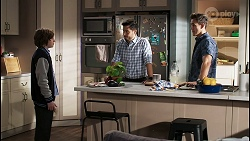 Emmett Donaldson, David Tanaka, Aaron Brennan in Neighbours Episode 8406