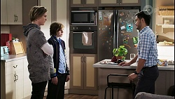 Brent Colefax, Emmett Donaldson, David Tanaka in Neighbours Episode 8406