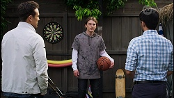 Aaron Brennan, Brent Colefax, David Tanaka in Neighbours Episode 8406