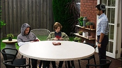 Brent Colefax, Emmett Donaldson, David Tanaka in Neighbours Episode 8407