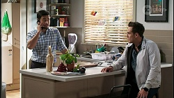 David Tanaka, Aaron Brennan in Neighbours Episode 8407