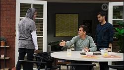 Brent Colefax, Aaron Brennan, David Tanaka in Neighbours Episode 8407