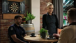 Levi Canning, Roxy Willis, Kyle Canning in Neighbours Episode 8408