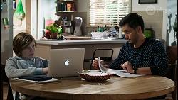 Emmett Donaldson, David Tanaka in Neighbours Episode 8408