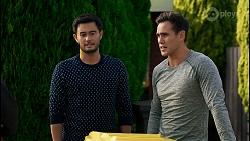 David Tanaka, Aaron Brennan in Neighbours Episode 8408