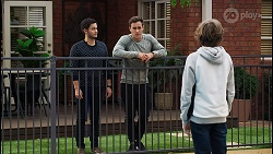 David Tanaka, Aaron Brennan, Emmett Donaldson in Neighbours Episode 8408