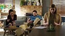 Dipi Rebecchi, Shane Rebecchi, Mackenzie Hargreaves in Neighbours Episode 8411