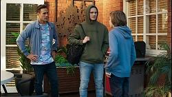 Aaron Brennan, Brent Colefax, Emmett Donaldson in Neighbours Episode 8412