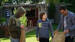 Brent Colefax, Emmett Donaldson, Aaron Brennan in Neighbours Episode 8412