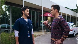 David Tanaka, Aaron Brennan in Neighbours Episode 8413