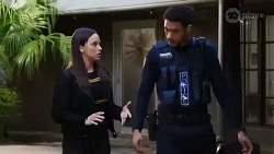 Bea Nilsson, Levi Canning in Neighbours Episode 8414