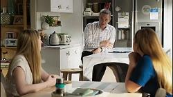 Mackenzie Hargreaves, Paul Robinson, Harlow Robinson in Neighbours Episode 8416