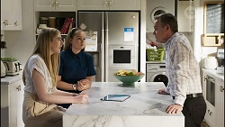 Mackenzie Hargreaves, Harlow Robinson, Paul Robinson in Neighbours Episode 8416
