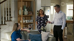 Harlow Robinson, Terese Willis, Paul Robinson in Neighbours Episode 8416