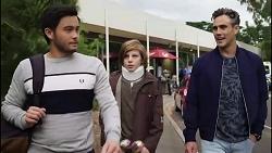 David Tanaka, Emmett Donaldson, Aaron Brennan in Neighbours Episode 8417