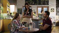 Chloe Brennan, Dipi Rebecchi, Pierce Greyson in Neighbours Episode 8417