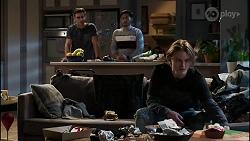 Aaron Brennan, David Tanaka, Brent Colefax in Neighbours Episode 8417
