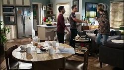 David Tanaka, Aaron Brennan, Brent Colefax in Neighbours Episode 8417