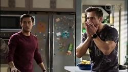 David Tanaka, Aaron Brennan in Neighbours Episode 8417