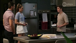 Pierce Greyson, Chloe Brennan, Hendrix Greyson in Neighbours Episode 8419