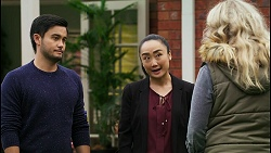 David Tanaka, Leila Potts, Jenna Donaldson in Neighbours Episode 8419