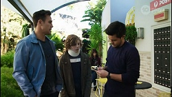 Aaron Brennan, Emmett Donaldson, David Tanaka in Neighbours Episode 8419