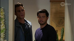 Aaron Brennan, David Tanaka in Neighbours Episode 8420