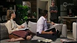 Chloe Brennan, Pierce Greyson, Hendrix Greyson in Neighbours Episode 8421
