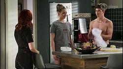 Nicolette Stone, Chloe Brennan, Hendrix Greyson in Neighbours Episode 8421