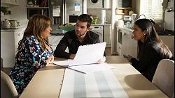 Terese Willis, Ned Willis, Yashvi Rebecchi in Neighbours Episode 8422