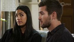 Yashvi Rebecchi, Ned Willis in Neighbours Episode 8422