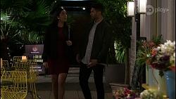 Yashvi Rebecchi, Levi Canning in Neighbours Episode 8422