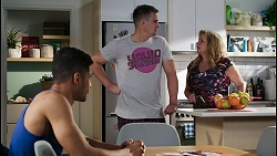 Levi Canning, Kyle Canning, Sheila Canning in Neighbours Episode 8423