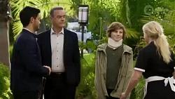 David Tanaka, Paul Robinson, Emmett Donaldson, Jenna Donaldson in Neighbours Episode 8424
