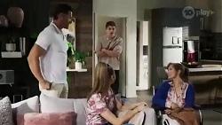 Pierce Greyson, Chloe Brennan, Hendrix Greyson, Fay Brennan in Neighbours Episode 8424