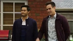 David Tanaka, Aaron Brennan in Neighbours Episode 8424