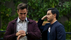 Aaron Brennan, David Tanaka in Neighbours Episode 8425